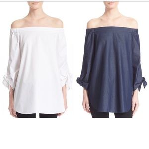 Tibi neo off the shoulder tunic